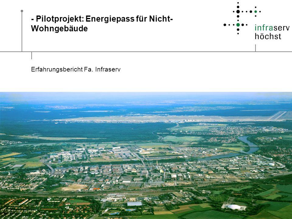 - Pilotprojekt: Energiepass für Nicht-Wohngebäude
