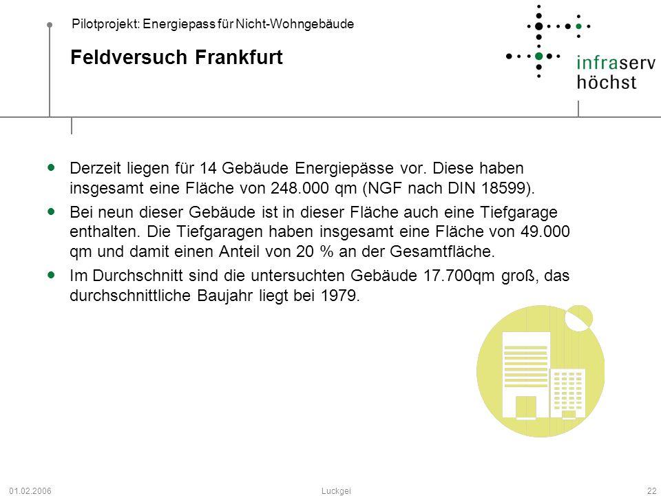 Feldversuch Frankfurt