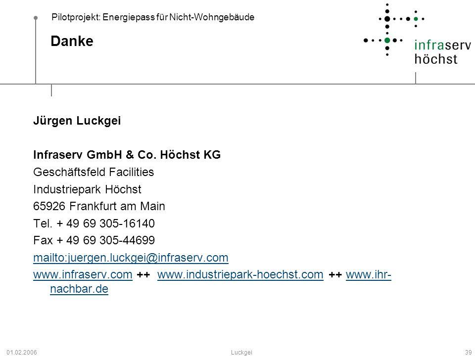 Danke Jürgen Luckgei Infraserv GmbH & Co. Höchst KG