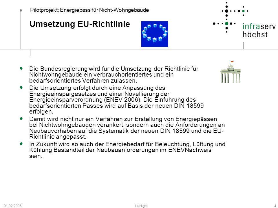 Umsetzung EU-Richtlinie