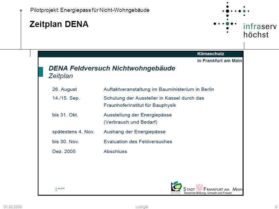 Zeitplan DENA 01.02.2006 Luckgei