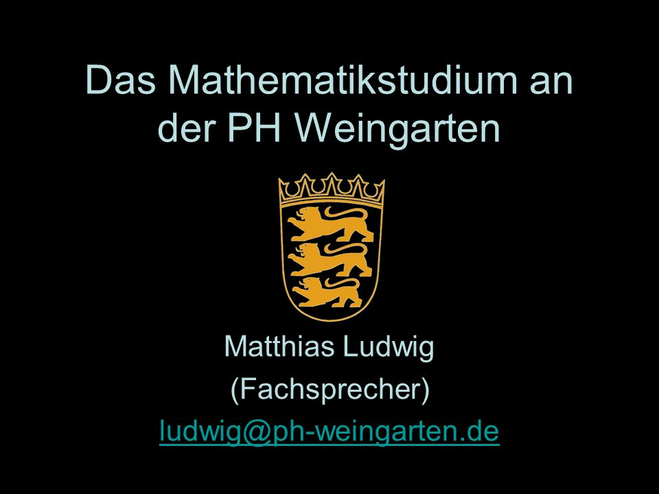 Das Mathematikstudium an der PH Weingarten