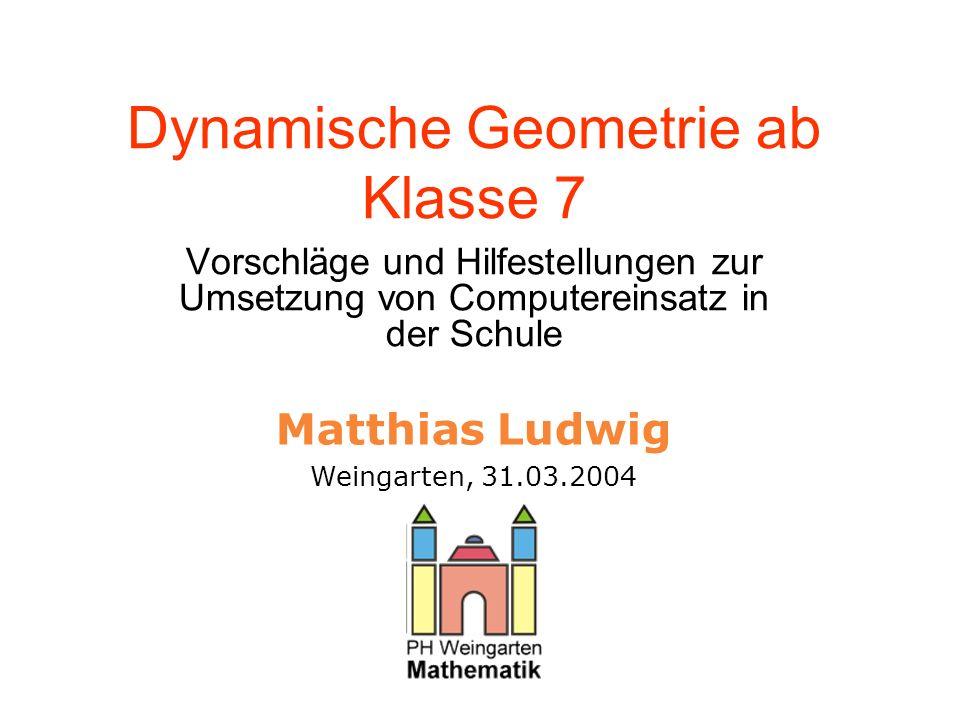 Dynamische Geometrie ab Klasse 7