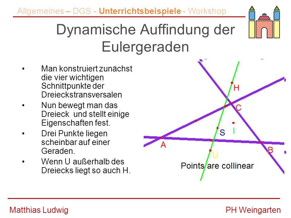 Dynamische Auffindung der Eulergeraden