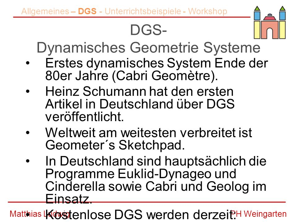 DGS- Dynamisches Geometrie Systeme