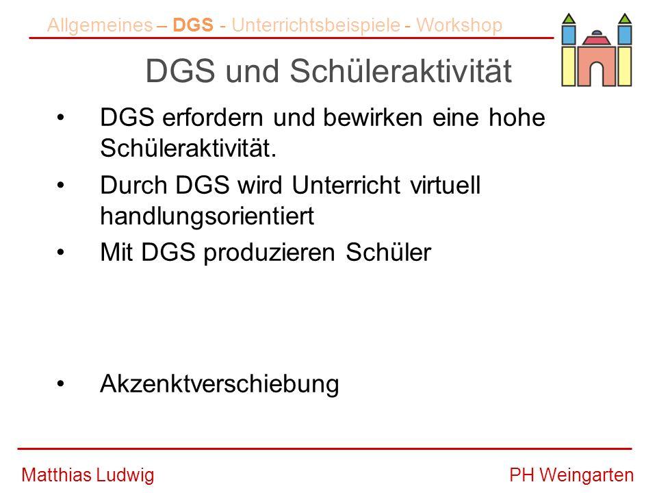 DGS und Schüleraktivität