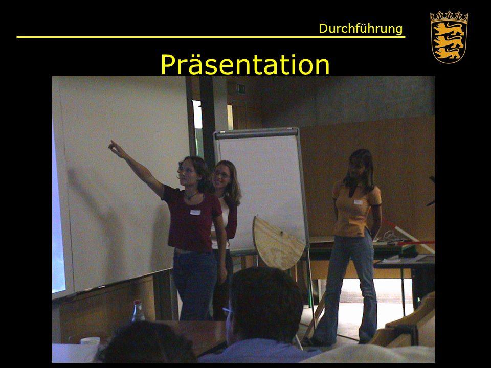 Durchführung Präsentation
