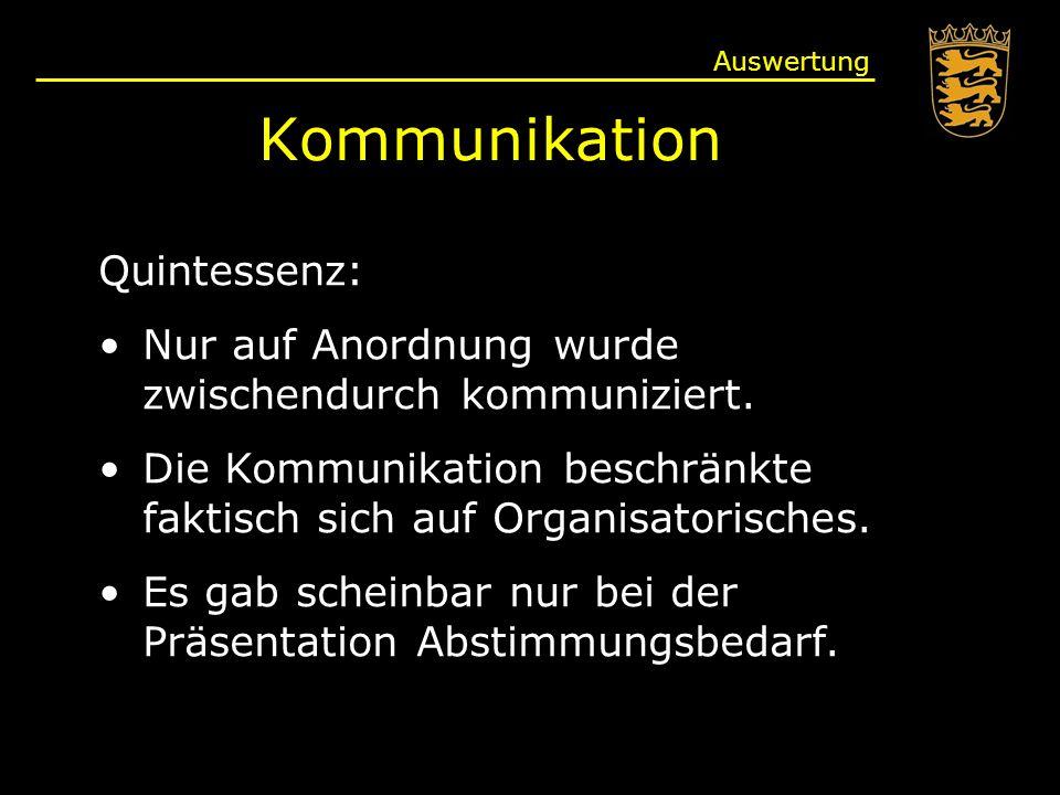 Kommunikation Quintessenz: