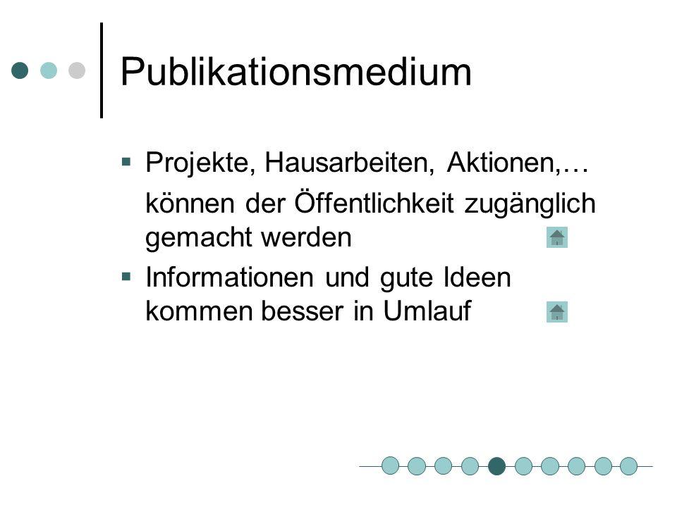 Publikationsmedium Projekte, Hausarbeiten, Aktionen,…