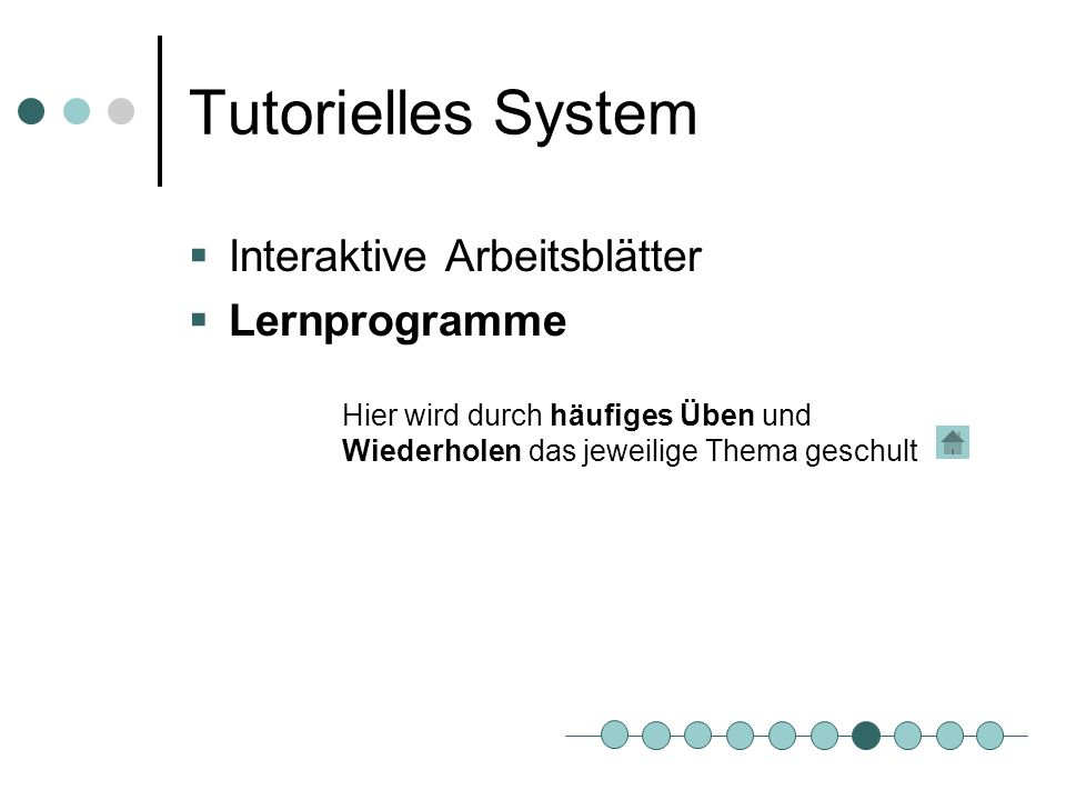 Tutorielles System Interaktive Arbeitsblätter Lernprogramme