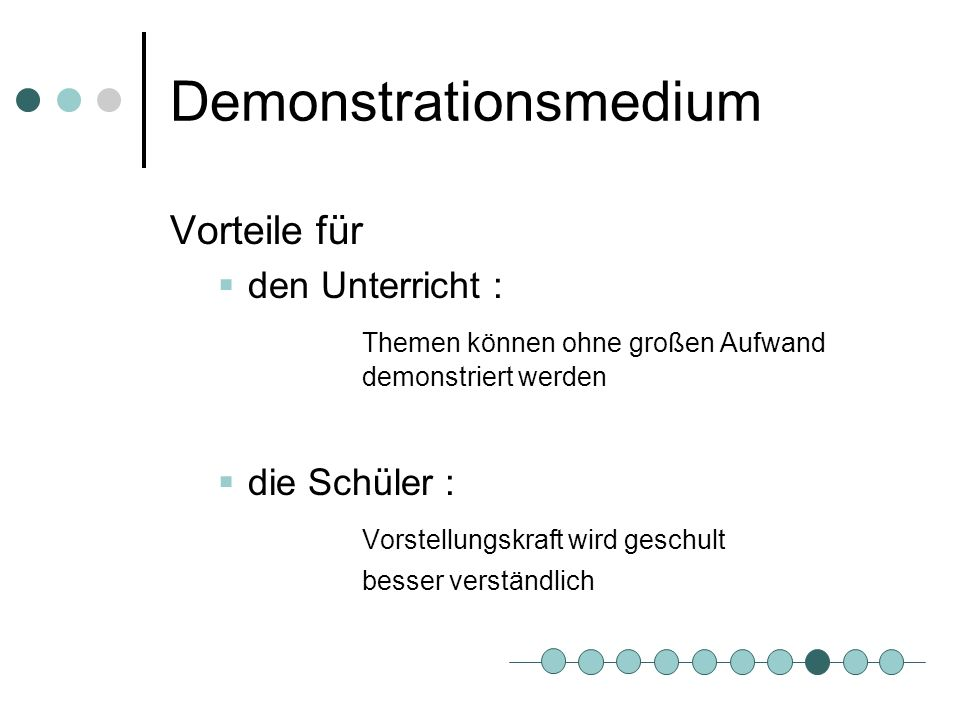 Demonstrationsmedium