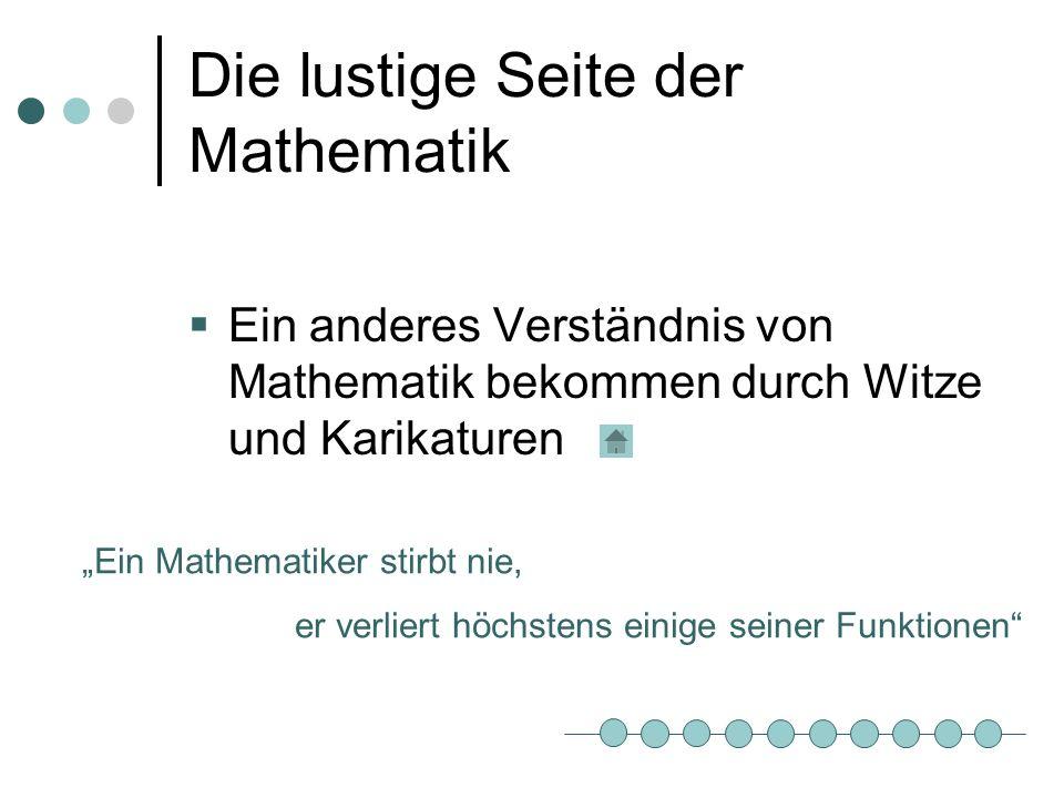 Die lustige Seite der Mathematik