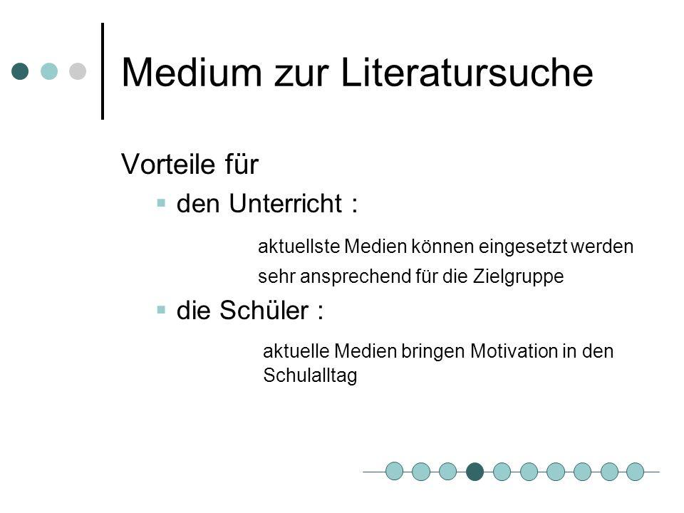 Medium zur Literatursuche