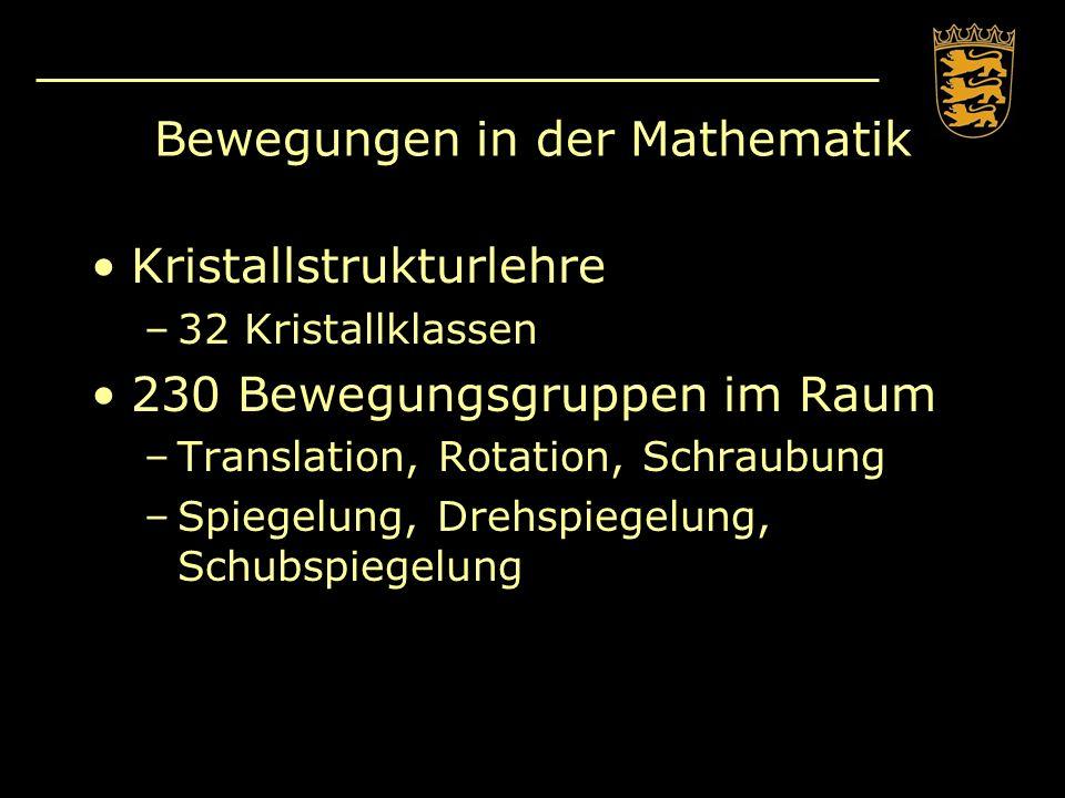 Bewegungen in der Mathematik