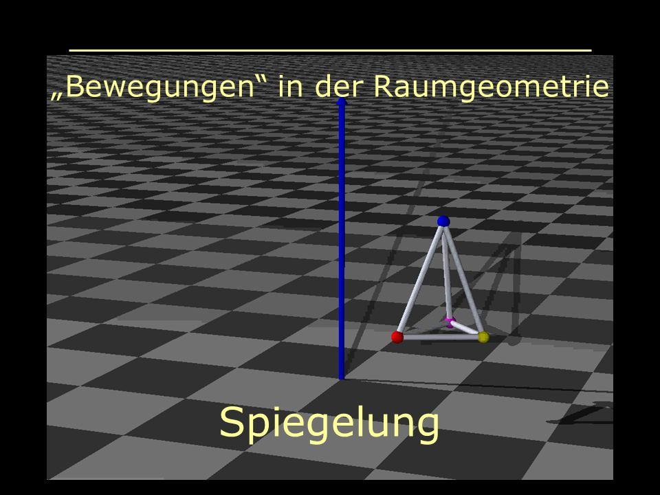 """Bewegungen in der Raumgeometrie"