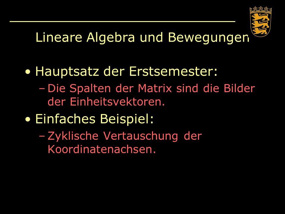 Lineare Algebra und Bewegungen