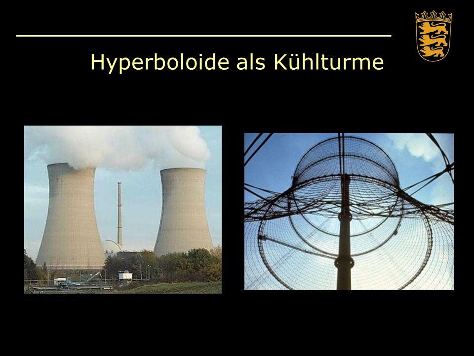 Hyperboloide als Kühlturme
