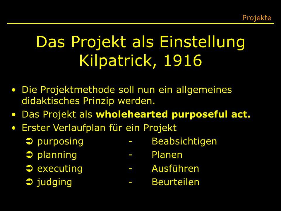 Das Projekt als Einstellung Kilpatrick, 1916