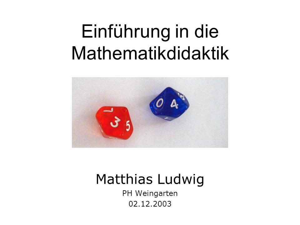 Einführung in die Mathematikdidaktik