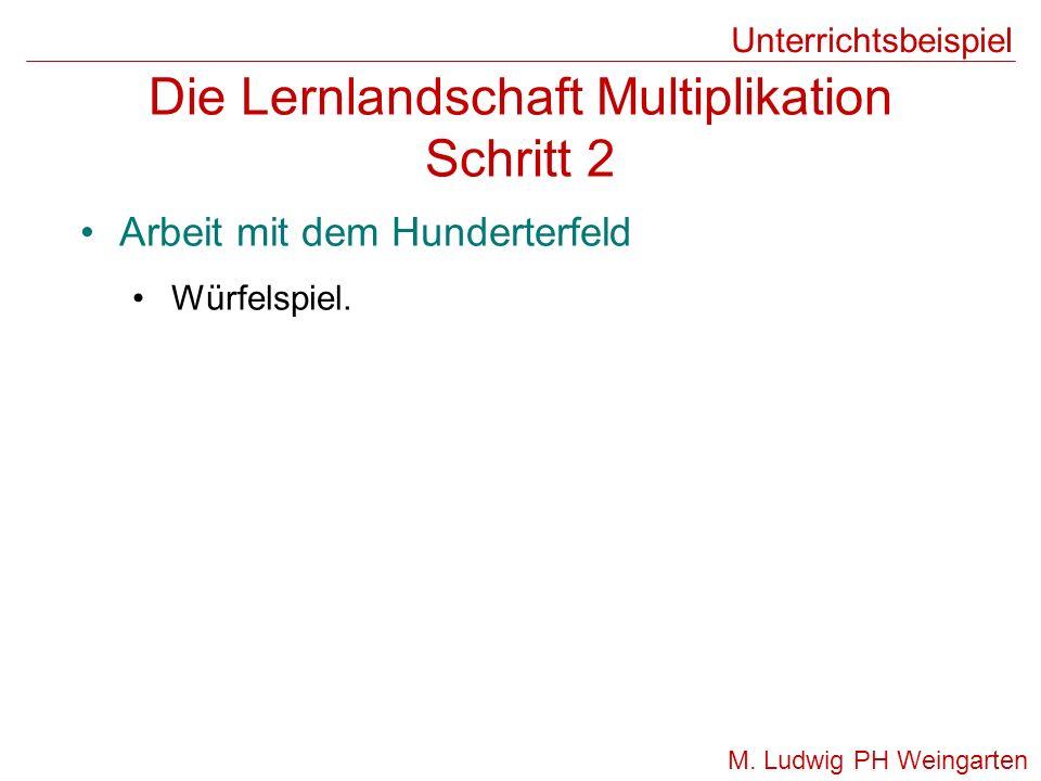 Die Lernlandschaft Multiplikation Schritt 2