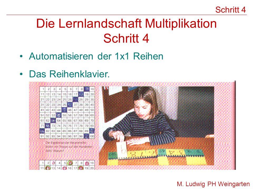 Die Lernlandschaft Multiplikation Schritt 4