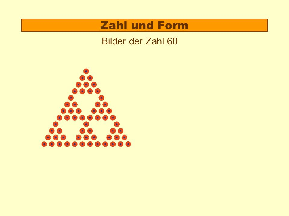 Zahl und Form Bilder der Zahl 60