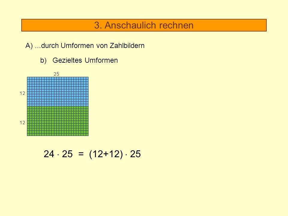 3. Anschaulich rechnen 24  25 = (12+12)  25
