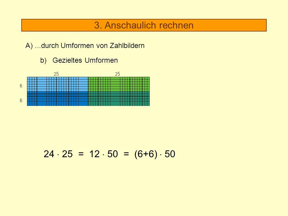 3. Anschaulich rechnen 24  25 = 12  50 = (6+6)  50