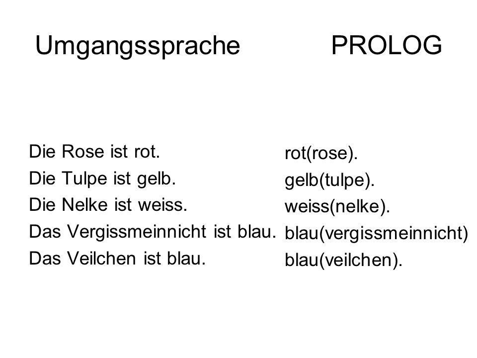 Umgangssprache PROLOG