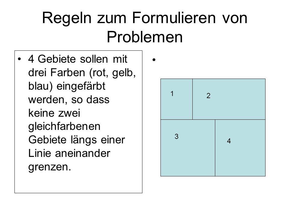 Regeln zum Formulieren von Problemen
