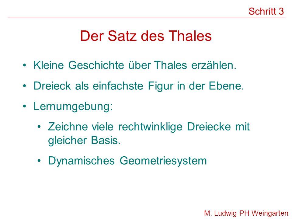 Der Satz des Thales Kleine Geschichte über Thales erzählen.