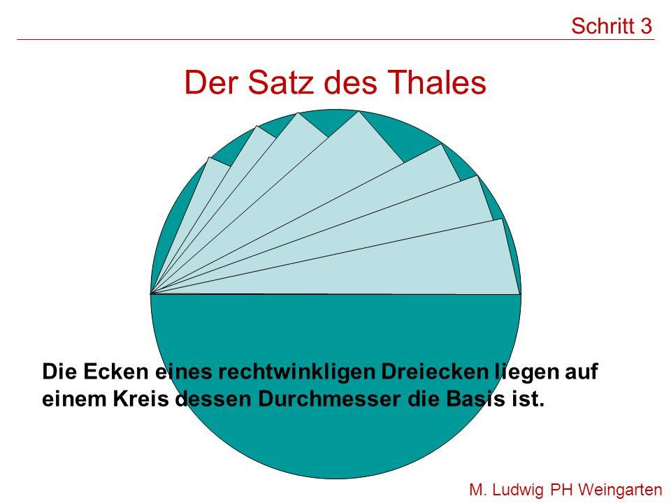 Der Satz des Thales Schritt 3
