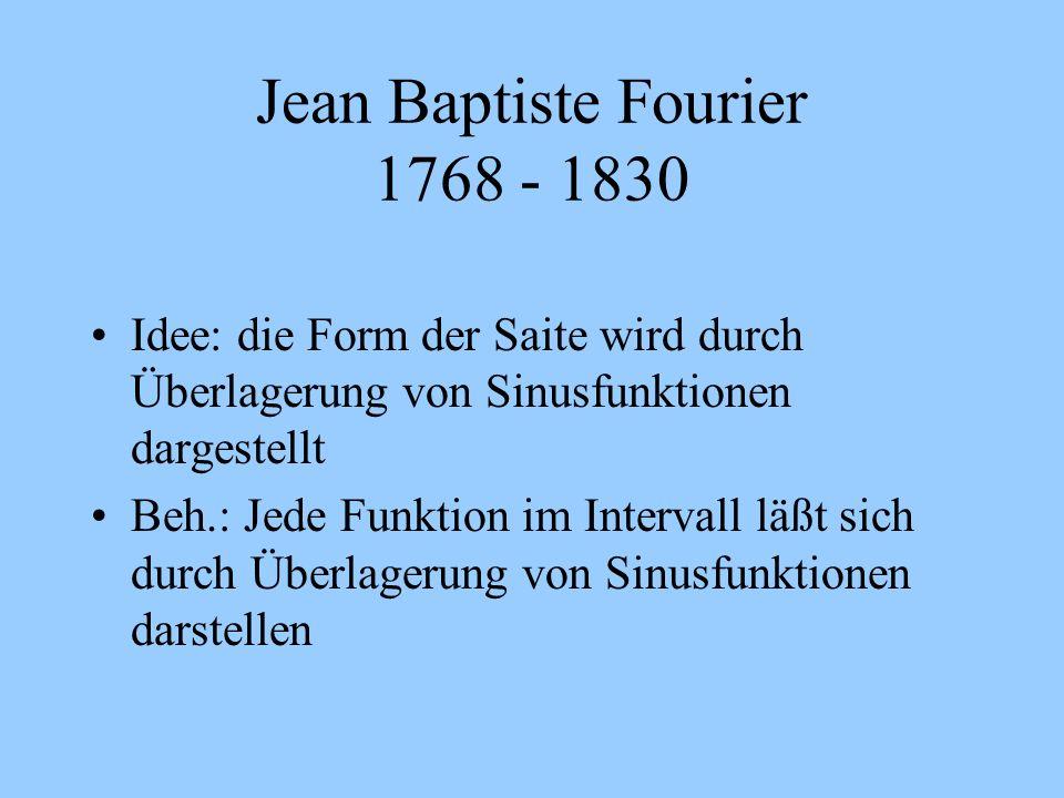 Jean Baptiste Fourier 1768 - 1830