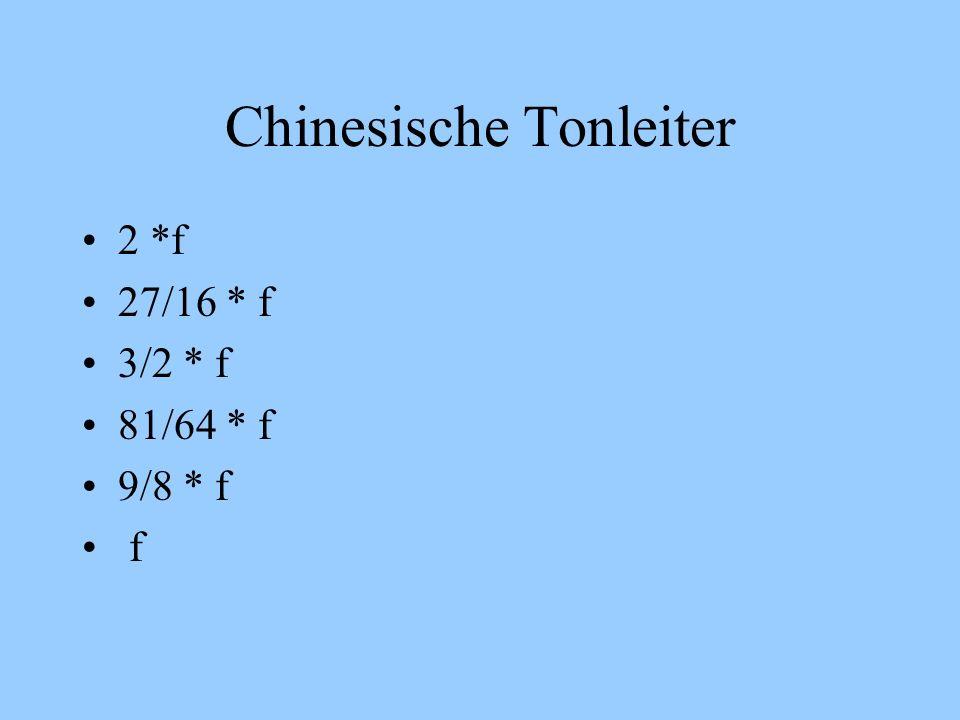 Chinesische Tonleiter