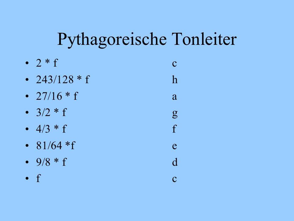 Pythagoreische Tonleiter