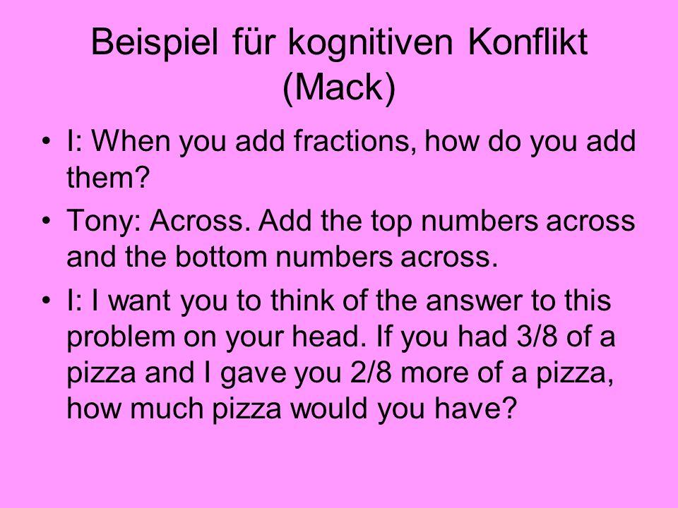 Beispiel für kognitiven Konflikt (Mack)