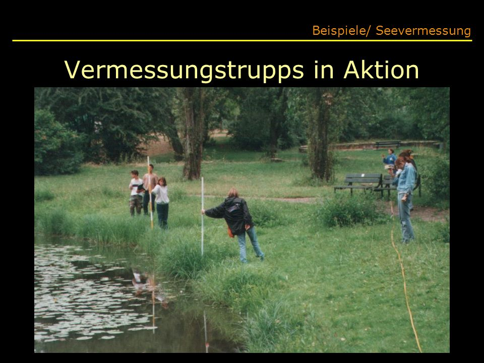 Vermessungstrupps in Aktion