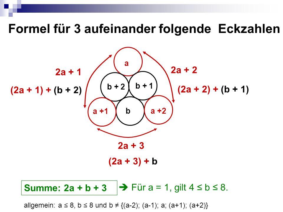 Formel für 3 aufeinander folgende Eckzahlen