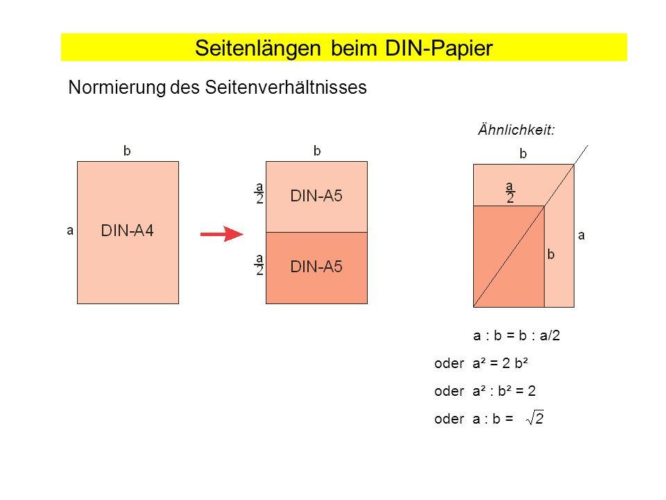 Seitenlängen beim DIN-Papier