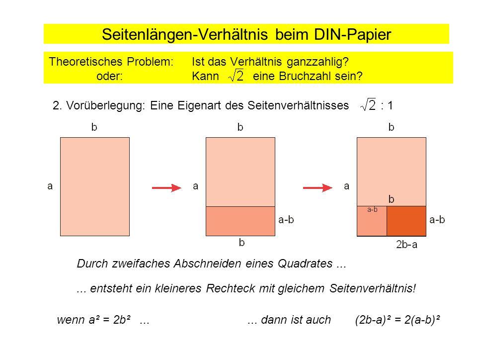 Seitenlängen-Verhältnis beim DIN-Papier