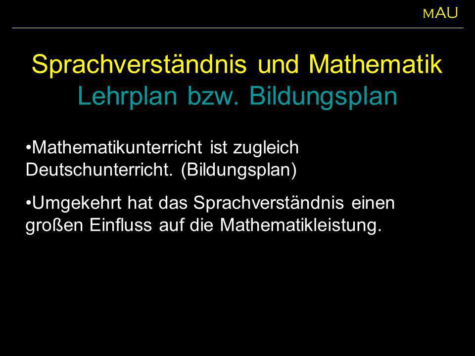 Sprachverständnis und Mathematik Lehrplan bzw. Bildungsplan