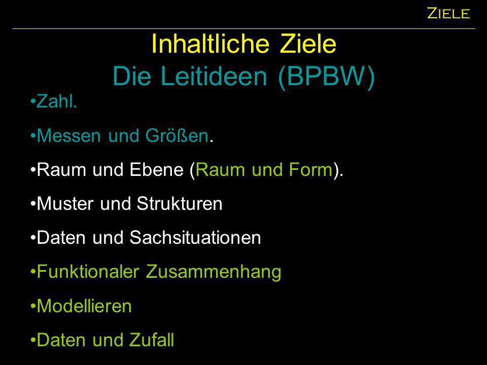 Inhaltliche Ziele Die Leitideen (BPBW)
