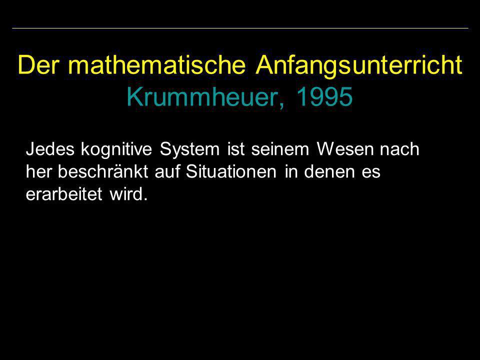 Der mathematische Anfangsunterricht Krummheuer, 1995