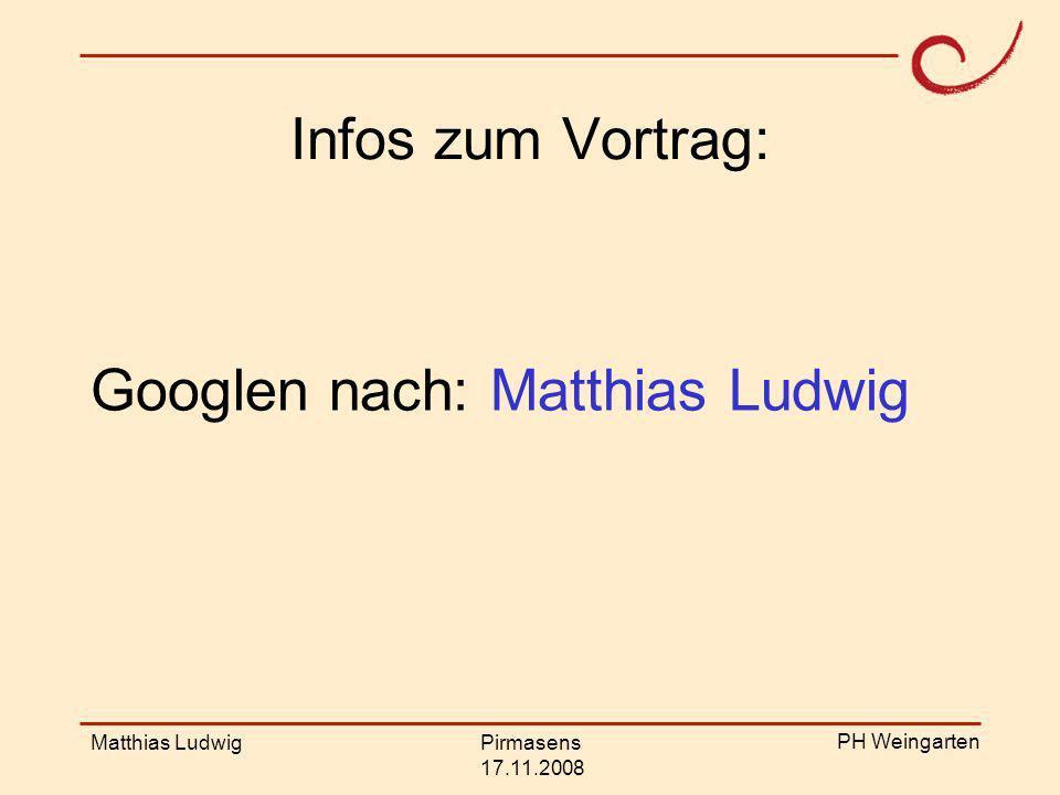 Googlen nach: Matthias Ludwig