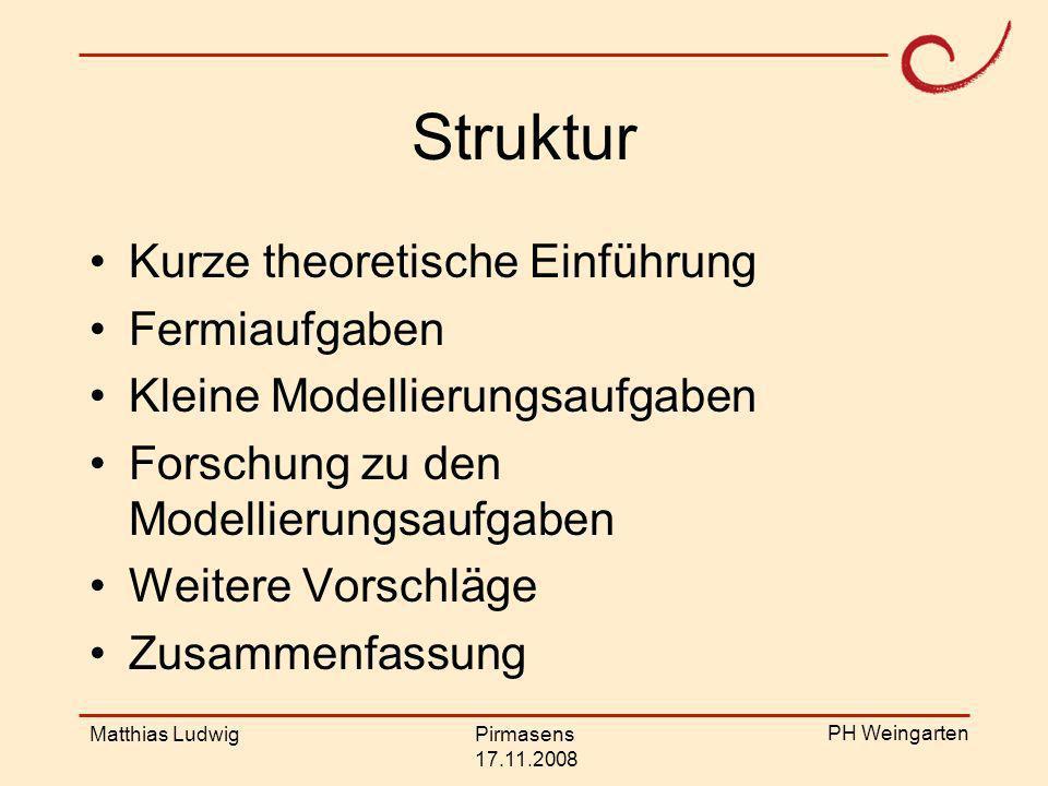 Struktur Kurze theoretische Einführung Fermiaufgaben