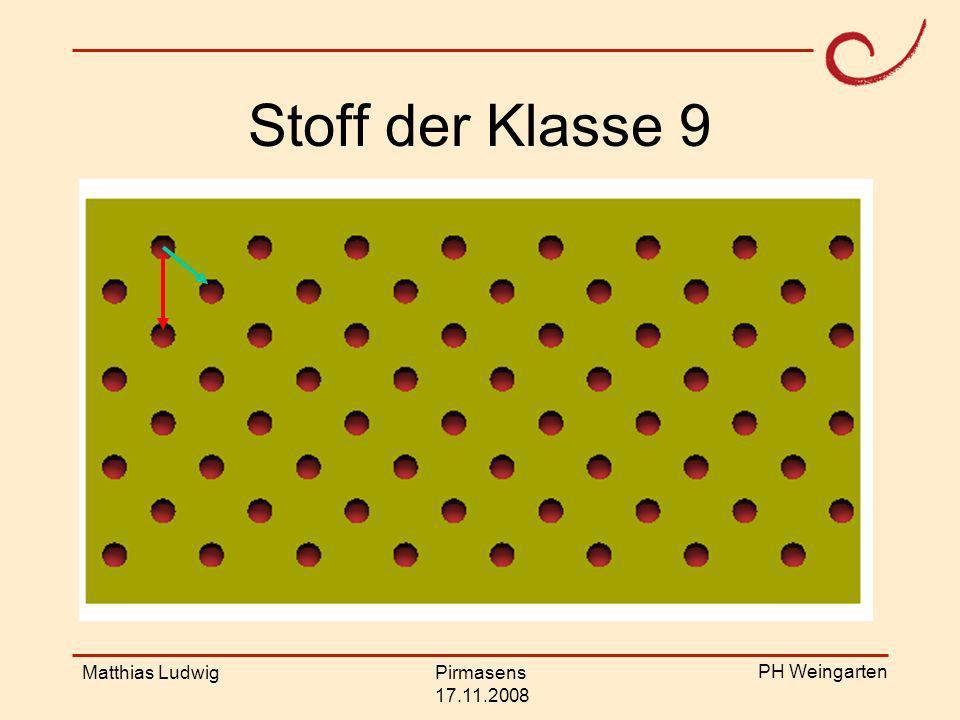Stoff der Klasse 9 Matthias Ludwig Pirmasens 17.11.2008