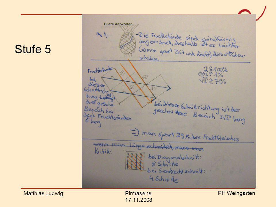 Stufe 5 Stufe 5 Matthias Ludwig Pirmasens 17.11.2008