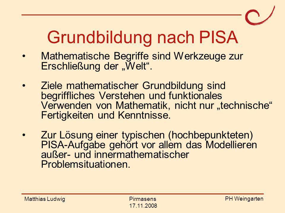 Grundbildung nach PISA
