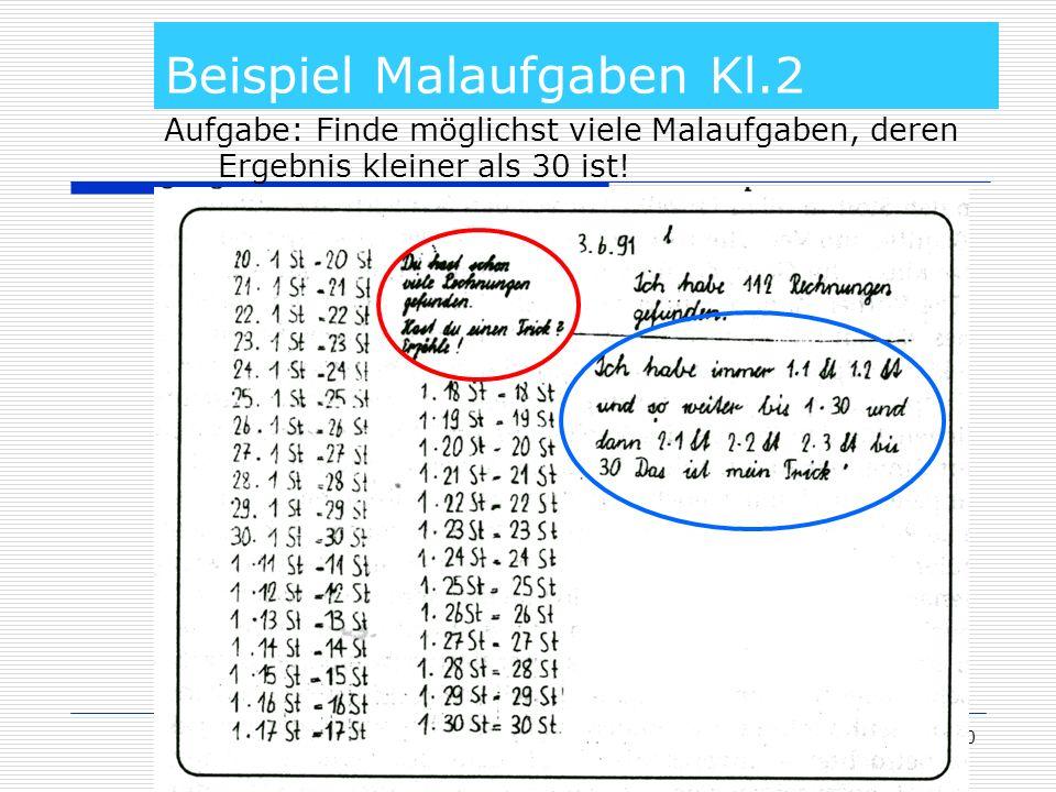Beispiel Malaufgaben Kl.2