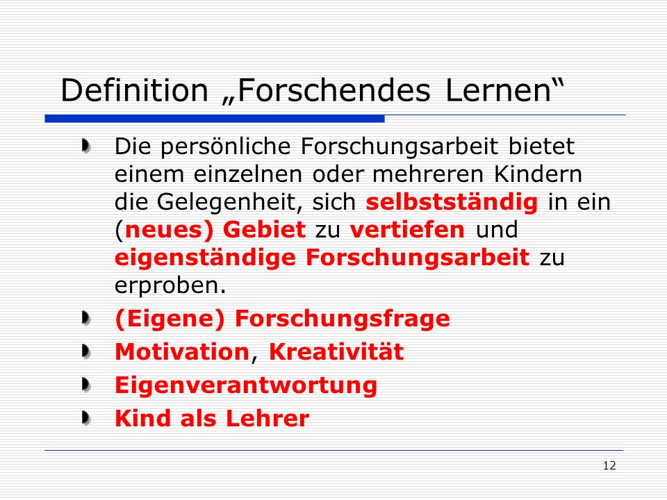 """Definition """"Forschendes Lernen"""